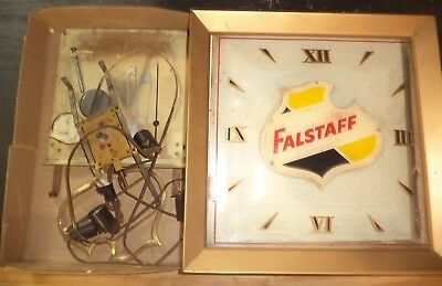 Vintage Falstaff Beer Advertising Lighted Clock Repair Parts Project Man Cave