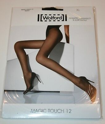 Wolford Magic Touch 12 Denier Tights Pantyhose Sheer to Waist Extra Large Black