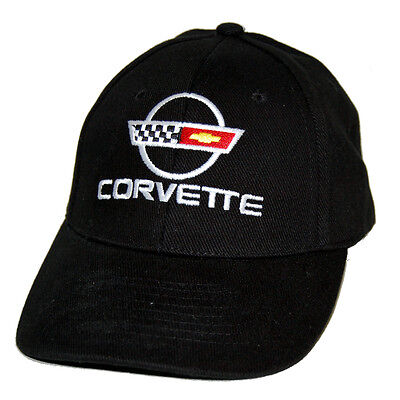 Chevrolet Corvette C4 Cotton Twill Black Hat Cap SHIPPED IN A BOX FREE