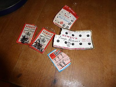 Vintage sewing items fasterners poppers hooks and eyes Neweys