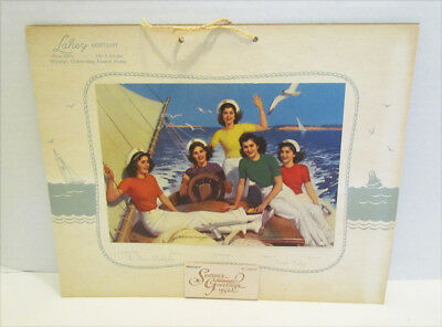 The Dionne Quintuplets Smooth Sailing 1952 Calendar From Lahey Mortuary Wichita