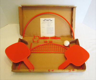 GENERAL MILLS 1960's TABLE TENNIS MAILAWAY CEREAL PREMIUM PRIZE PING PONG GAME