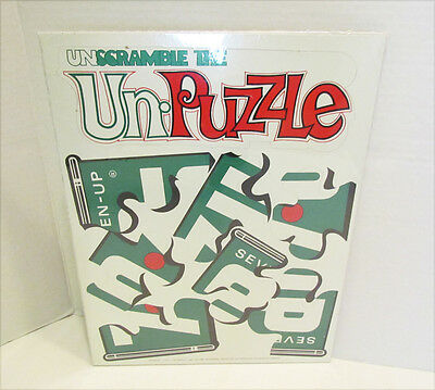 7 UP SODA THE UNCOLA UNSCRAMBLE THE UN-PUZZLE PREMIUM PUZZLE UNUSED circa 1970's
