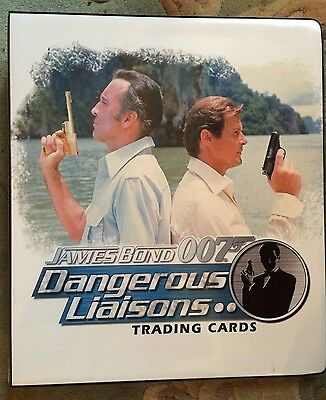 007 BOND DANGEROUS LIASONS TRADING CARD BINDER , Rittenhouse, 2006, Rare item