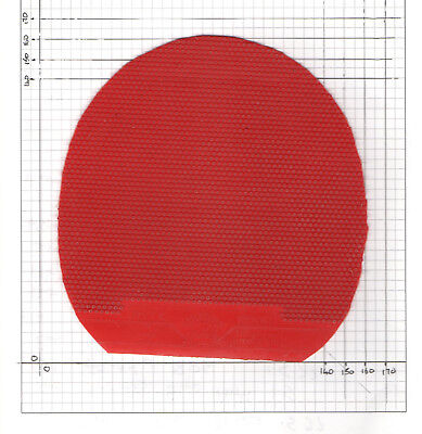 USED Sheet of Friendship 755 Long Pimples Red 0.8mm