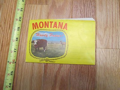 Montana MT travel Souvenir Folder Postcard