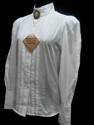Victorian white Grace Blouse Frontier Classics Pioneer Old West Free Brooch S-3X