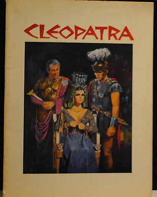 1963 Cleopatra 50-page movie program Elizabeth Taylor Richard Burton