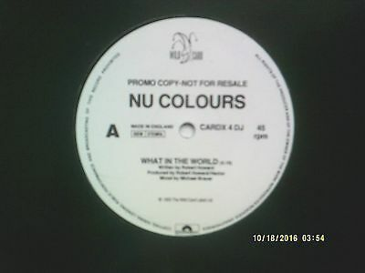 "Nu Colours What In The World 12"" Promo Single 1993 N/mint"