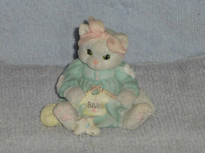 Enesco Calico Kittens Hand Knitted With Love Baby Figurine