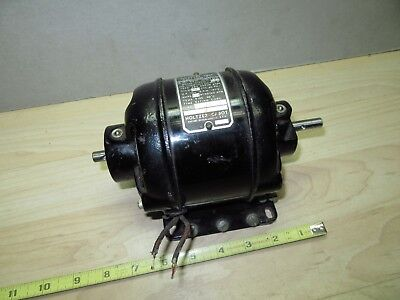 Old Unusual Open ends  holtzer cabot motor Works/runs 1/40 HP 1800 RPM 1.7 amps