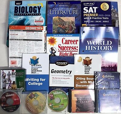Grade 10 Curriculum Lot of 20 Educational Items 10th Homeschool Multiple Subject