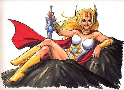 Sexy She-Ra He-Man Mattel Teela Masters of the Universe She-Ra original art