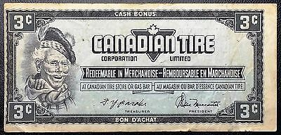 Vintage 1974 Canadian Tire 3 Cents Note - Free Combined Shipping