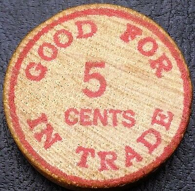 1963 Nelson C. Boltz Wooden Nickel - Free Combined Shipping