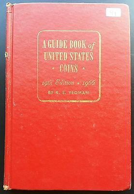 Vintage R.S. Yeoman Red Guide Book of United States Coins, 19th Edition, 1966