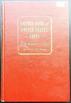Vintage R.S. Yeoman Red Guide Book of United States Coins, 16th Edition, 1963