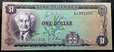 JAMAICA: 1976 $1 Banknote P-59a Signature 4 **XF CONDITION** FREE COMBINED S/H