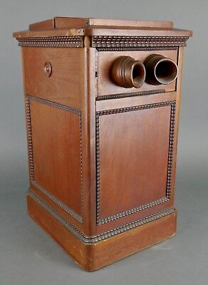 Antique Victorian Penny Arcade Revolving Stereoscope Stereo Card Photo Viewer