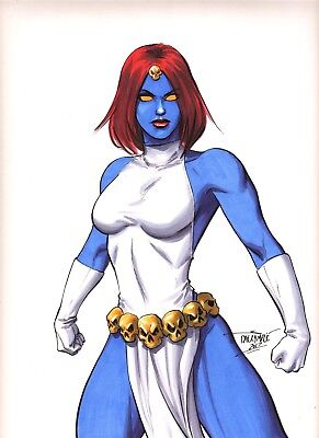 Sexy Mystique Marvel Comics X-Men original art by Scott Dalrymple CGC it?