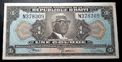HAITI: 1919 10th Issue 1 Gourde Banknote *VF+* - P-200 - FREE COMBINED S/H