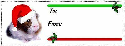 Guinea Pig Christmas gift tags WATERPROOF 120 pieces