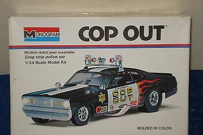 COP OUT 1970 PLYMOUTH DUSTER 426ci HEMI FUNNY CAR,TOM DANIELS 1/24 FSIOB  NEW