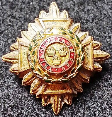 Vintage British-Canadian-Australian Army Officer's Pip, Bath Star Badge