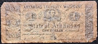 1862 State of Arkansas $1 Reproduction Note - Free Combined Shipping