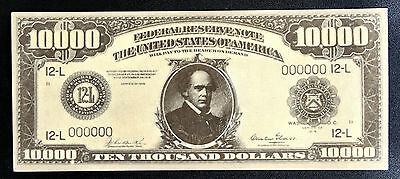 United States $10,000 Federal Reserve Play Note -B6D7