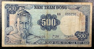 SOUTH VIETNAM: 1966 500 Dong Banknote, P-23 **NICE GRADE** ◢ FREE COMBINED S/H ◣