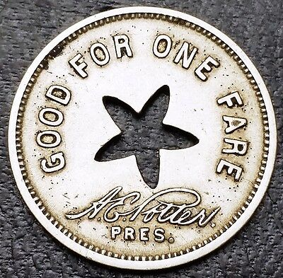 United Electric Railways Co. Token - Good For One Fare