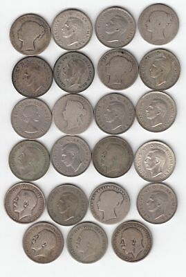 Lot of 23 British 1 Shilling Coins (earliest 1859, latest 1955)..99 cents...NR!