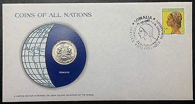 Coins of all Nations Series - 1976 Somalia 1 Shilin - Coin & Stamp Set - BU