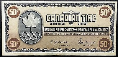 Vintage 1976 Canadian Tire 50 Cents Note ***Great Condition*** Free Combined S/H