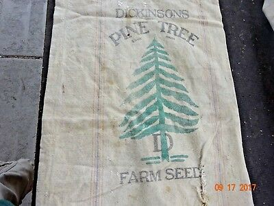 Vintage  Heavy Cotton Dickinson Pine Tree Seamless Feed/Seed Sack