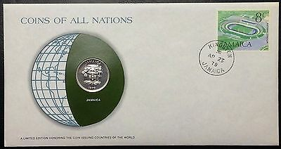 Coins of all Nations Series - 1979 Jamaica 10 Cents - Sealed in COA Card - BU
