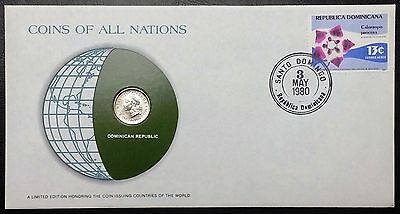 Coins of all Nations - 1973 Dominican Republic 10 Centavos - Sealed in Card - BU