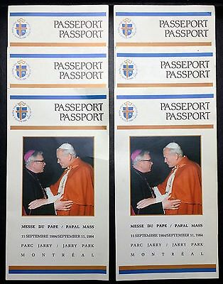 Set of 6 1984 Pope Jean Paul II Papal Visit To Canada Passport Tickets Montreal