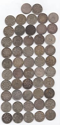 Lot of 52 British Silver 6 Pence (nothing past WWII)...99 cents opening...NR!