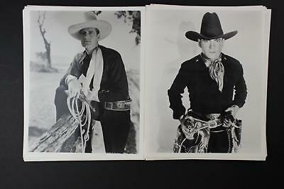 LOT #2: 48 CONTEMPORARY PHOTOGRAPHS~1930s-1950s WESTERN MOVIE STARS~