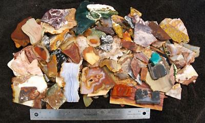 10 lbs ASSORTED ROCK SLABS - tumble mix; small cab!!!