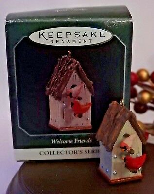 Hallmark Miniature Ornament  1998 'WELCOME FRIENDS' #2 IN SERIES