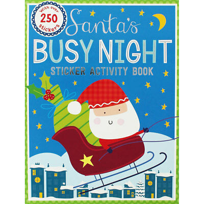 Santas Busy Night Sticker Activity Book, Children's Books, Brand New