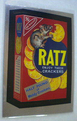 2014 Wacky Packages Chrome Series #32 RATZ CRACKERS