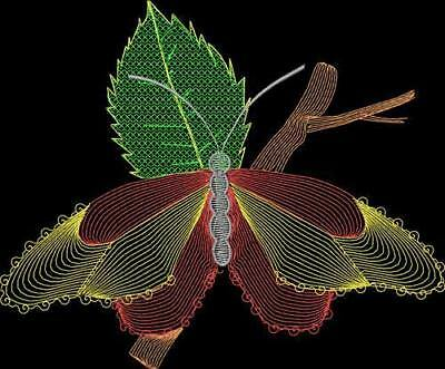 Butterflies Lite Work 10 Machine Embroidery Designs Cd 2 Sizes