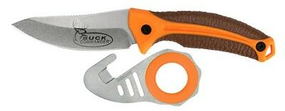 Kershaw 1895ORBRNPBCX Buck Commander Fixed Blade Knife Orange Zipit Gut Hook