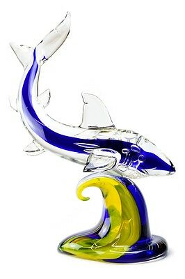 "Murano Glass Sculpture - Francesco Ragazzi  "" Shark """