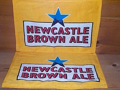 NEWCASTLE BROWN ALE BEER 2 WOVEN BAR TOWELS NEW 17x11