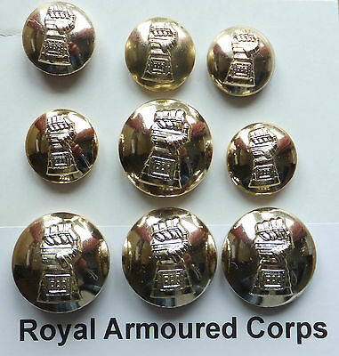 Royal Armoured Corps Buttons